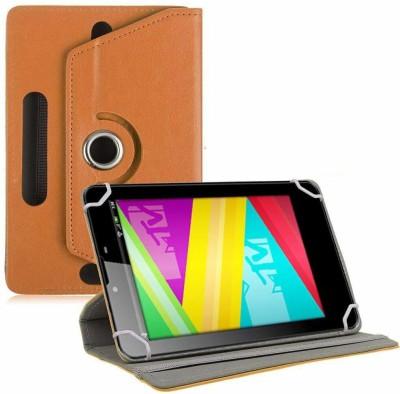 TGK Book Cover for Swipe MTV Slash 4X 7 inch Tablet Universal Rotating Case(Pink, Cases with Holder)