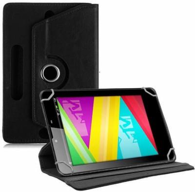 TGK Book Cover for Swipe MTV Slash 4X 7 inch Tablet Universal Rotating Case(Black, Cases with Holder)