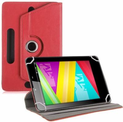 TGK Book Cover for Swipe MTV Slash 4X 7 inch Tablet Universal Rotating Case(Red, Cases with Holder)