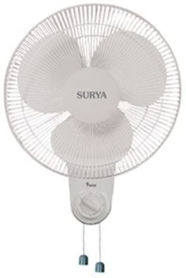 Surya Force 400 MM WALL FAN 400 mm 3 Blade Wall Fan(WHITE, Pack of 1)