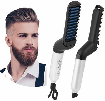 NK-STORE Multifunctional Hair Comb Brush Beard Straightener Hair Straightening Comb Quick Hair Beard Care Styling Brush for Men NK8048 Hair Straightener(Black)