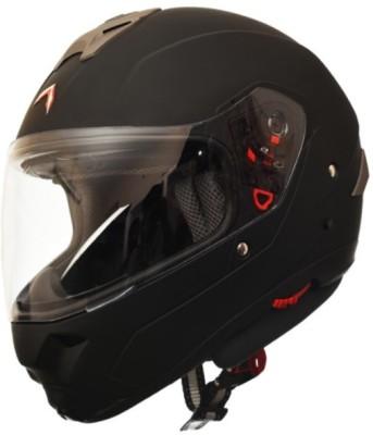 HEADFOX MX SMART BLUETOOTH Motorsports Helmet(Black, Matt Black)