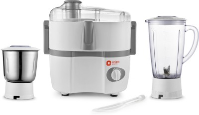 Orient Electric AISHA JMAS45G2 450 Juicer Mixer Grinder(White, 2 Jars)