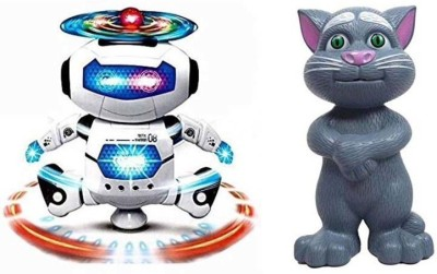 HK combo of Talking Interactive Toy with Popular Dancing Robot Toy(Multicolor)