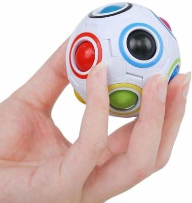 QUINERGYS ™Magic Rainbow Ball Fun GOTI Cube CHALLENGING Puzzle for Children(1 Pieces)