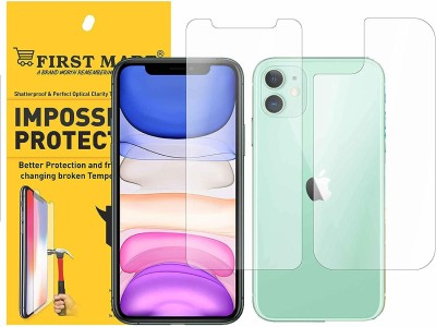 FIRST MART Front and Back Screen Guard for Iphone 11(Pack of 1)