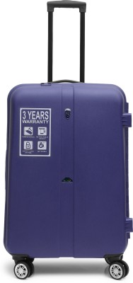 NovexPrimer Check in Luggage   24 inch Purple  Novex Suitcases