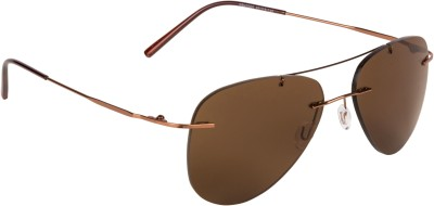 Aislin Aviator Sunglasses(Brown)