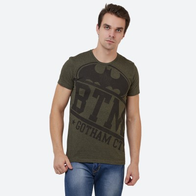 Star Wars By Free Authority Printed Men Round Neck Green T-Shirt