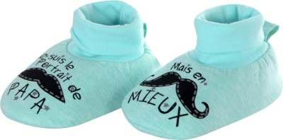 Baby Grow Soft Sole Funny Face Baby Soft Booties Booties(Toe to Heel Length - 11 cm, Blue)