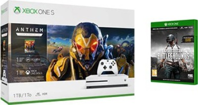 Microsoft Xbox One S 1 TB with Anthem Legion of Dawn, Player Unknown's Battlegrounds(White)