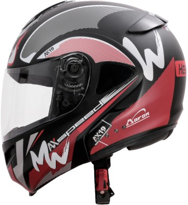 HEADFOX Smart Bluetooth Motorbike Helmet(Red)