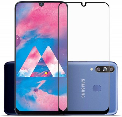 RKMG Edge To Edge Tempered Glass for Samsung Galaxy A30, Samsung Galaxy A30s, Samsung Galaxy A50, Samsung Galaxy A50s, Samsung Galaxy M30, Samsung Galaxy M30s, Samsung Galaxy A20   11D Anti Scratch 9H Hardness Cover Friendly Anti Shatter Proof Full Edge(Pack of 1)