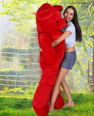 LittleHug Toys Soft 5 Feet Teddy Bear with Neck Bow   Red 152cm    152 cm Red