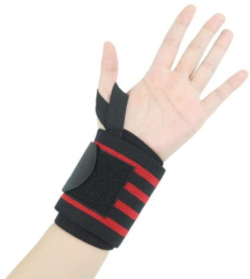ABaO Wrist Support for Gym Workout, Band Brace Pack of 2 Wrist Support(Black, Yellow, Grey, Blue)