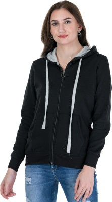 Kaily Full Sleeve Self Design Women Sweatshirt