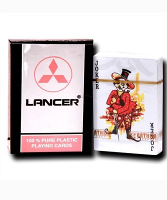 Lancer PURE PLASTIC PARTY PLAYING CARDS(Black)