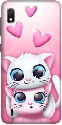 PHONE WALEY.COM Back Cover for SAMSUNG GALAXY A10(Cat cute, Hard Case,guda, Waterproof)