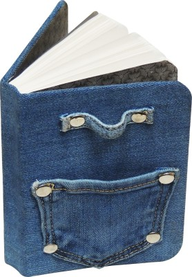 Denim Decor Handcrafted Mini Diary Unruled 165 Pages(Blue)