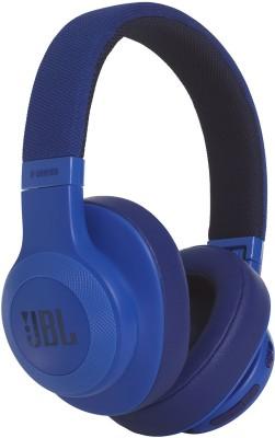 JBL E55BT Bluetooth Headset(Blue, Wireless over the head)