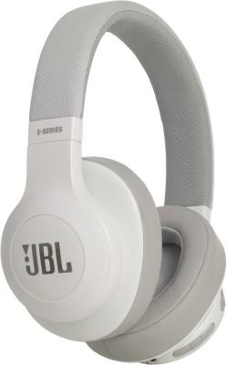 JBL E55BT Bluetooth Headset(White, Wireless over the head)
