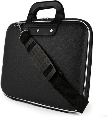 FOBHIYA 15.6 inch Laptop Messenger Bag Black