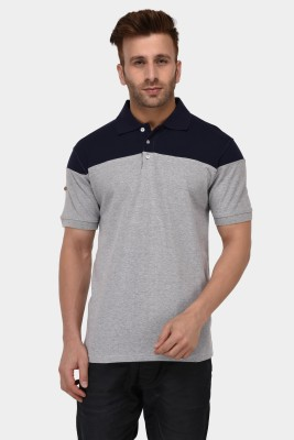 Tommy Hilfiger Solid Men Polo Neck Grey T-Shirt