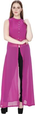 KMB ROYAL Women Solid Straight Kurta Pink