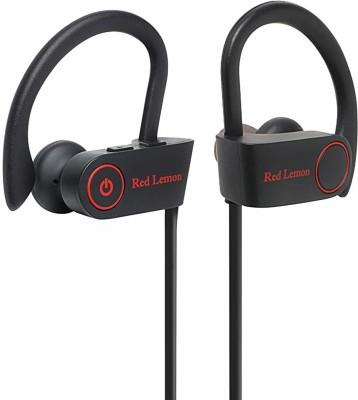 Red Lemon Bolt S180 Sports Stereo Wireless IPX7 Waterproof Bluetooth Headset(Charcoal Black, In the Ear)