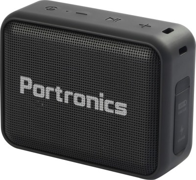 Portronics POR-394 Dynamo 5 W Bluetooth Speaker(Black, Stereo Channel)
