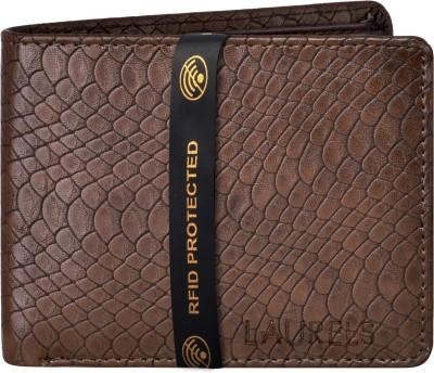 Laurels Men Brown Artificial Leather Wallet 9 Card Slots