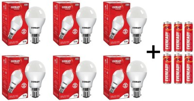 Eveready 10 W Round B22 LED Bulb(White, Pack of 6)