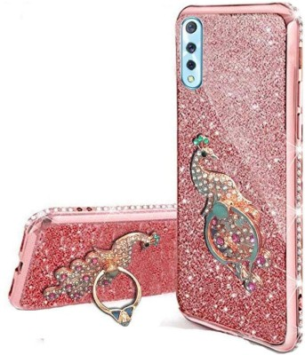 KC Back Cover for Vivo S1, Vivo Z1x(Pink, Cases with Holder, Silicon)