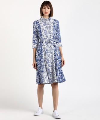AND Women Shirt White, Blue Dress