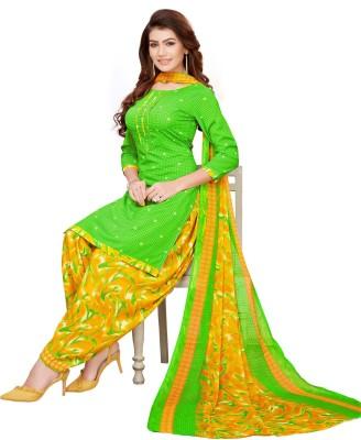 SAARA Crepe Printed Salwar and Dupatta Material(Unstitched)