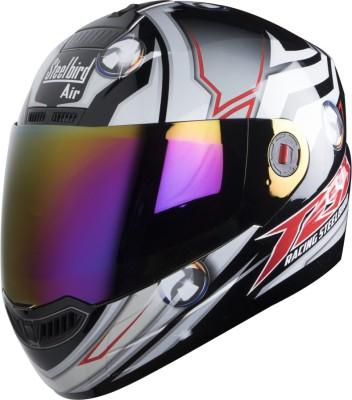 Steelbird S A 1 CH MA Motorbike Helmet(BLACK GREY)