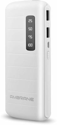 Ambrane 10000 mAh Power Bank (P-1144, P-1144 White)(White, Lithium-ion)