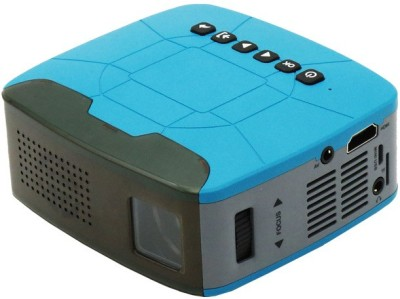 Bushwick interfaces for multiple devices connection, Power Bank Charging Support Portable Projector(Blue)
