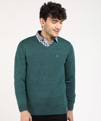 MONTE CARLO V Neck Solid Men Pullover
