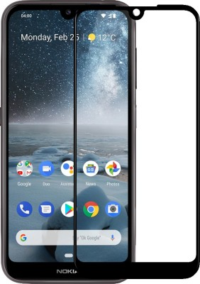 Genron Edge To Edge Tempered Glass for Nokia 4.2(Pack of 1)