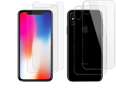 Spinzzy Front and Back Tempered Glass for Apple iPhone X(Pack of 2)