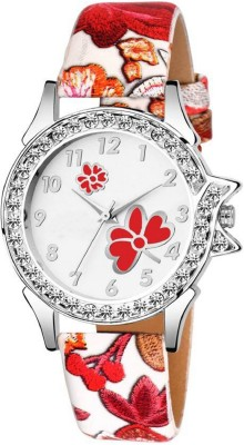 Lizzy Stylish Fashionable velvet Leather Strap Premium Qulaity Collection Analog Watch  - For Women