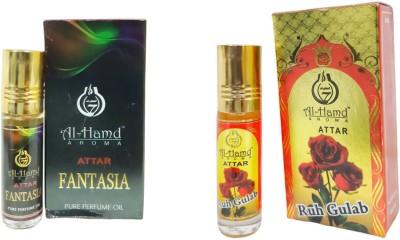Al-Hamd AROMA GFTD86JK_36 Herbal Attar(Floral, Rose)