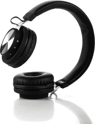 Flipkart SmartBuy Rich Bass Wireless Bluetooth Headset With Mic(Black, Wireless over the head)
