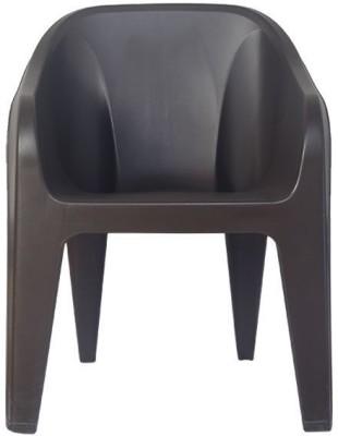 Nilkamal Plastic Outdoor Chair(dark brown)
