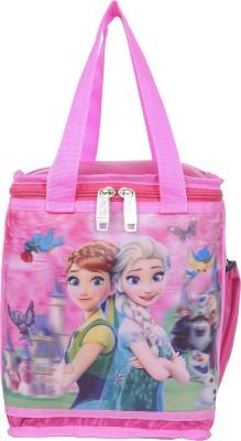Naaz Waterproof Frozen 3D Printed School Lunch/Tiffin Bag (Pink) Waterproof Lunch Bag(Multicolor, 10 L)