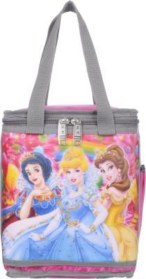 Naaz Waterproof Princess 3D Printed School Lunch/Tiffin Bag (Pink) Waterproof Lunch Bag(Multicolor, 10 L)