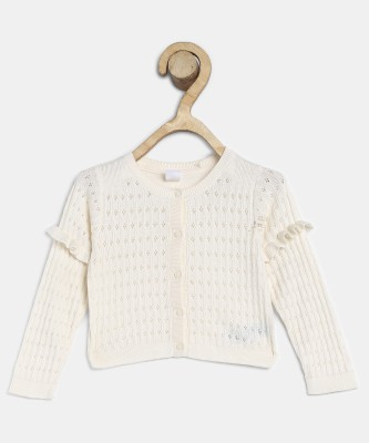 GAP Baby Girls Button Solid Cardigan