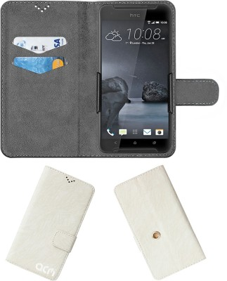 ACM Flip Cover for Htc One X9(White, Cases with Holder)