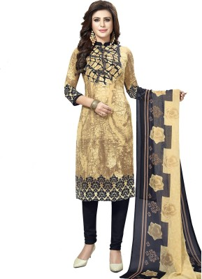 Fashion Valley Crepe Printed, Solid Kurta   Churidar Material   Unstitched  Fashion Valley Dress Materials